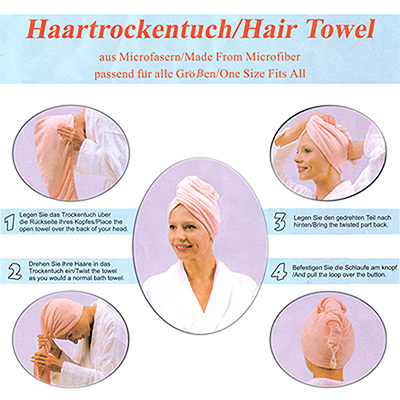Microfibre Hair Towel