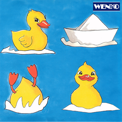 tile dekore - with cute little duck motives